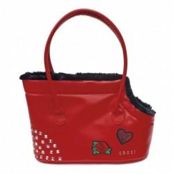 BAG PERKY RED 40X28X20 cm.