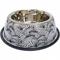 "STEEL BOWL ""Animalier Zebra"""
