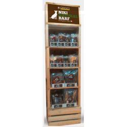 DISPL.WOOD BOXES NIKI NATURAL BARF D 174PCS