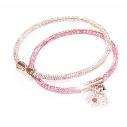 COLLAR CRYSTAL PARTY PINK