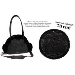 BAG PLUSHIE BLACK 36X22X25 CM
